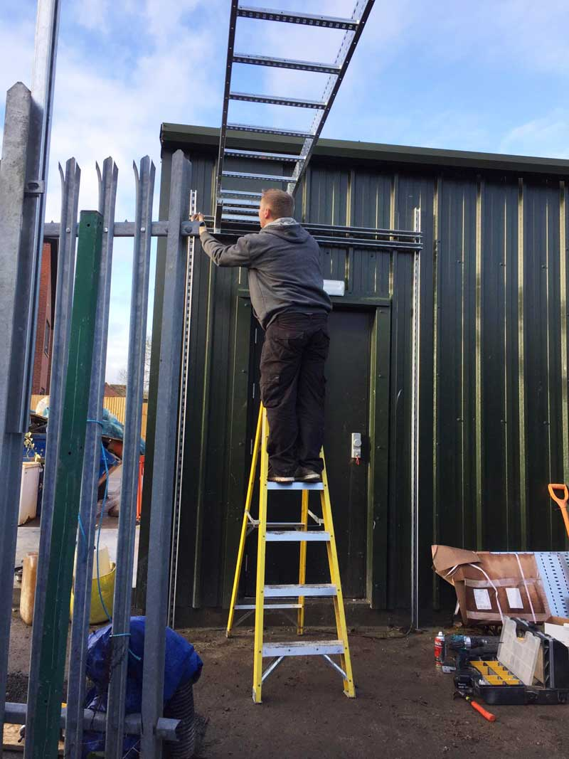 Cable-Ladder-installation-at-a-local-engineering-company,-Ashford-Kent