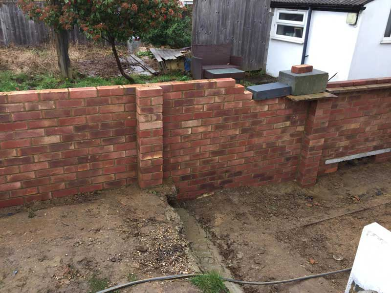 Garden-Boundary-Wall-mid-way-through-construction-5