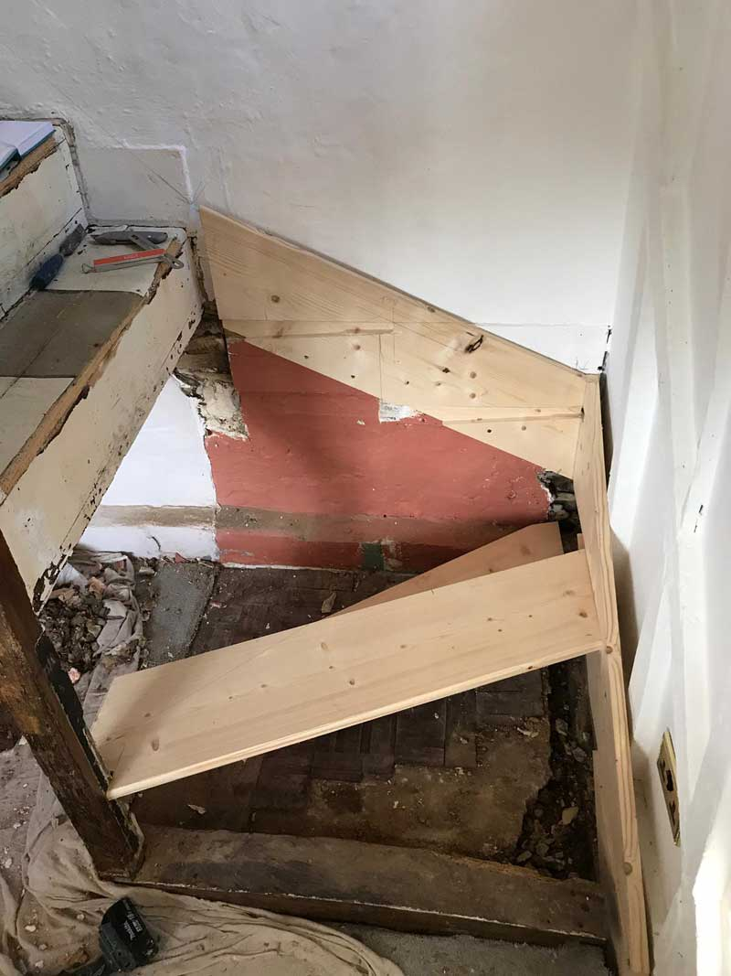 Removal-of-dilapidated-staircase-and-new-staircase-put-in,-Kent-2